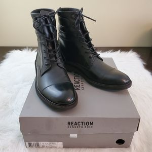 Kenneth Cole Sz 9 Lets Roll Men's Black Boots IOB